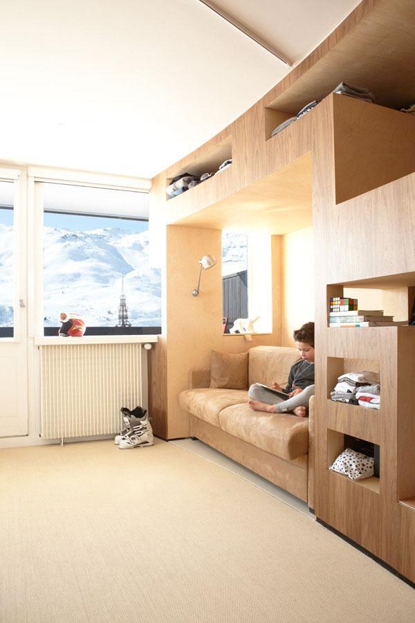 Fresh Apartment 9 - amazing small apartment design in Menuires.