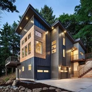 Home Architecture - Breathtaking Eclectic Modern House in Oregon, USA