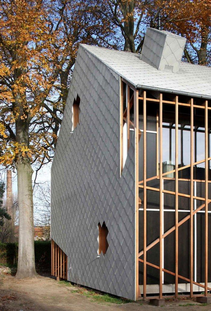 Facade - Small Eco House Architectural Design in Gent, Belgium