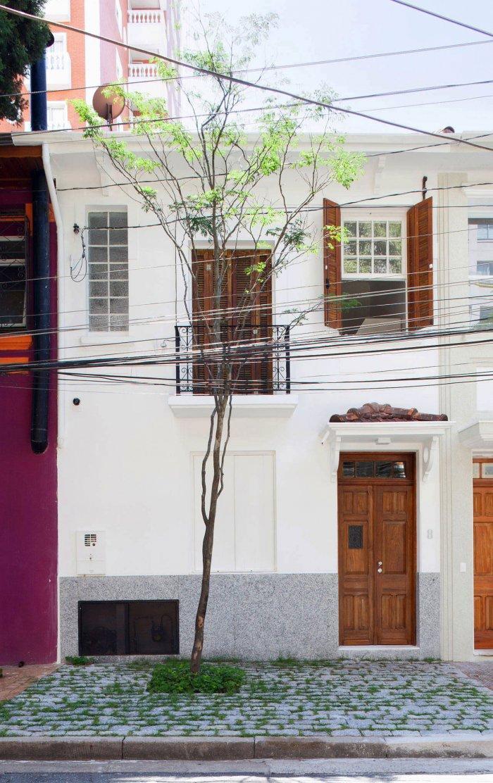 House White Facade - Modern Breezy and Cozy Home in Sao Paolo, Brazil