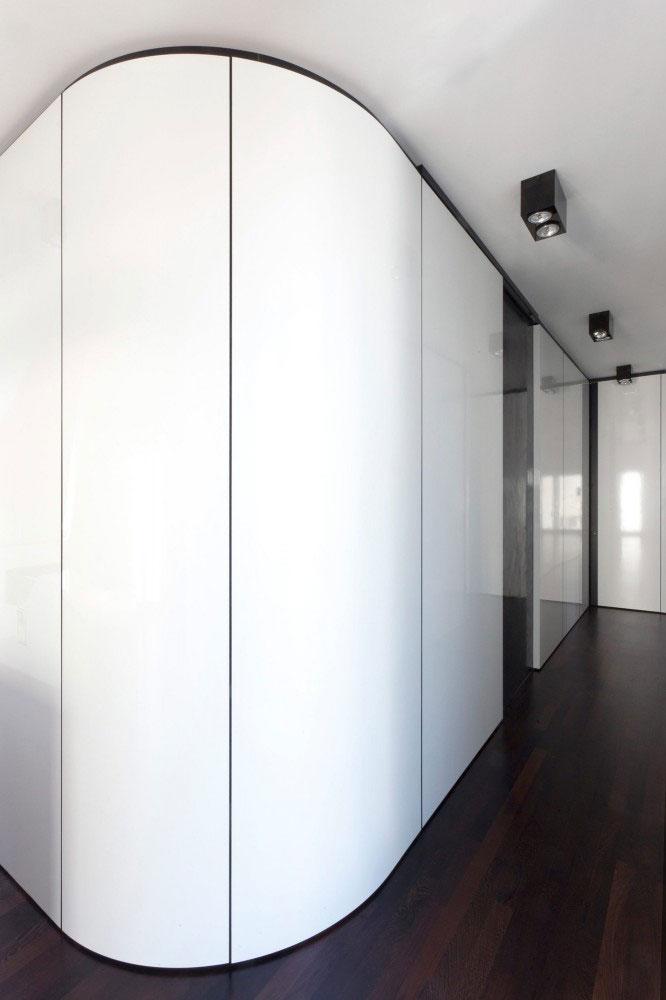 Laminated Hallway - Minimalist Apartment Hosting Inspiring Modern Design