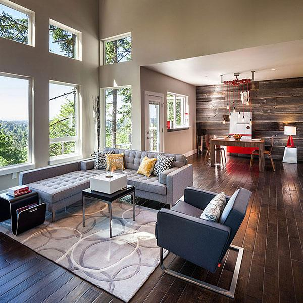 Living Room 02 - Breathtaking Eclectic Modern House in Oregon, USA