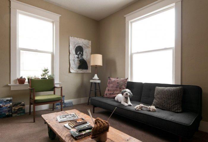 eclectic small apartment interior design in slc, usa   founterior