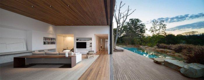 Living Room – Beautiful Contemporary Summer House Design in Brazil