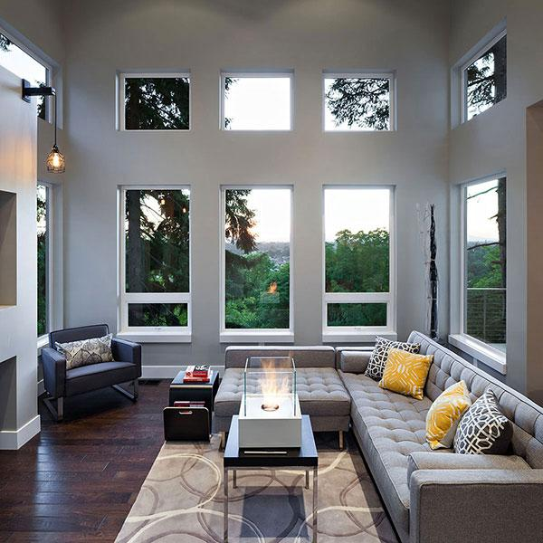 Living Room - Breathtaking Eclectic Modern House in Oregon, USA