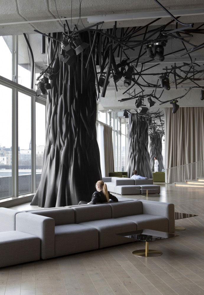 Lounge Cafe - Modern Club Interior Design - Electric, Paris