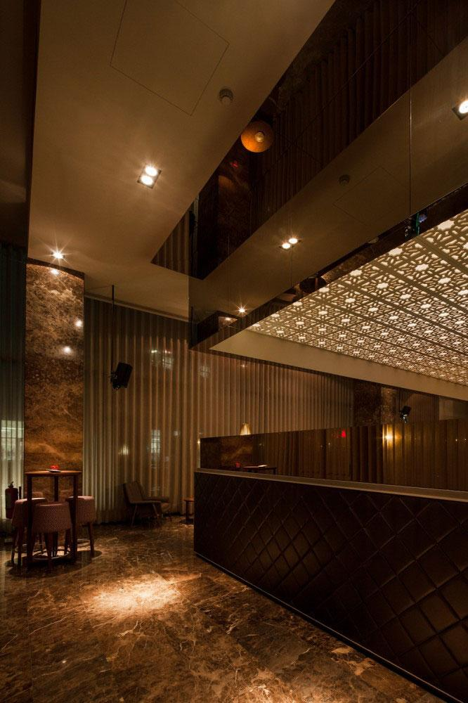 Marble Floor - Modern Whiskey Bar Interior Design in Arquitectoss
