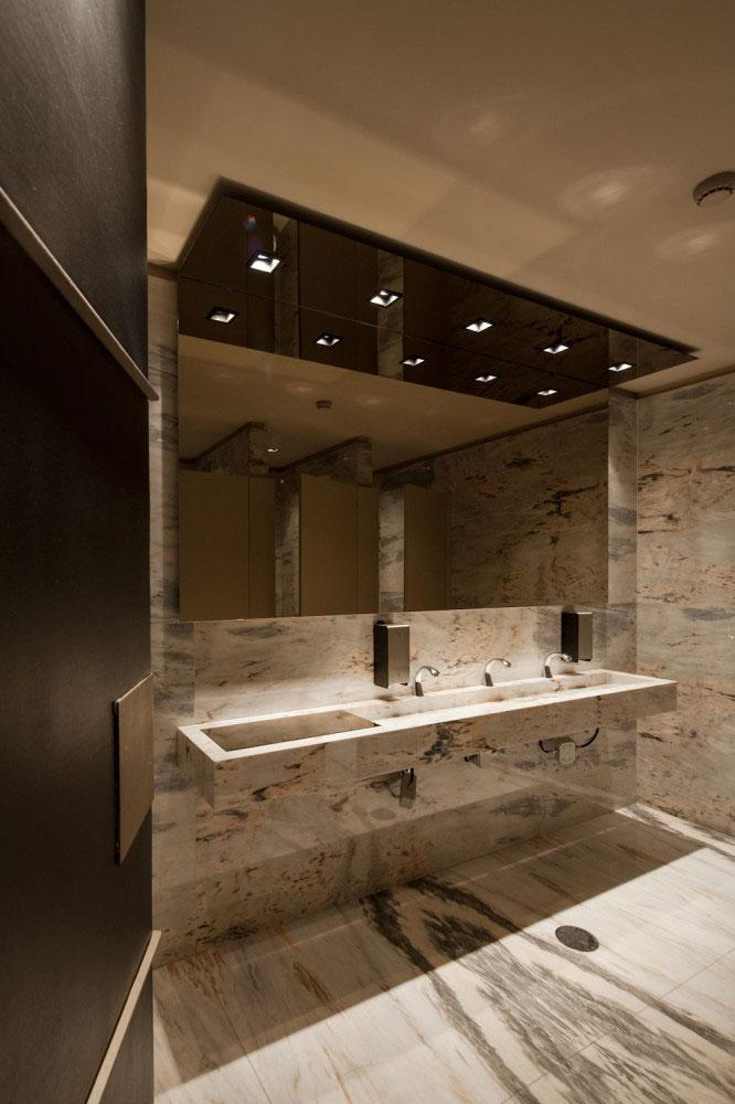 Marble Public Toilet Sink - Modern Whiskey Bar Interior Design in Arquitectoss