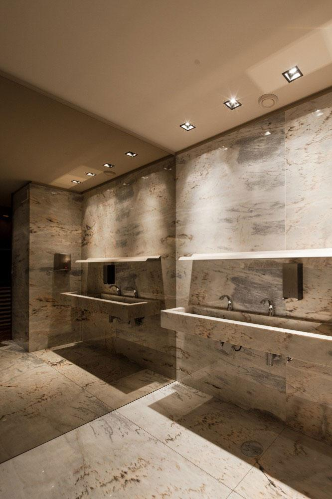 Marble Toilets - Modern Whiskey Bar Interior Design in Arquitectoss