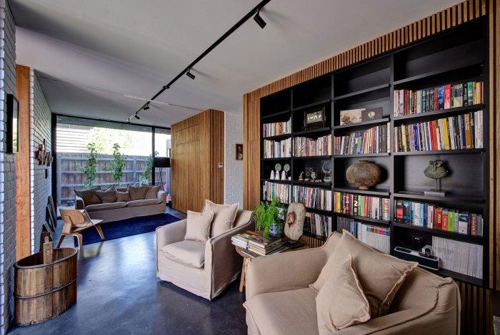Modern Licing Room - Energy Efficient Home Design by Jessica Liew