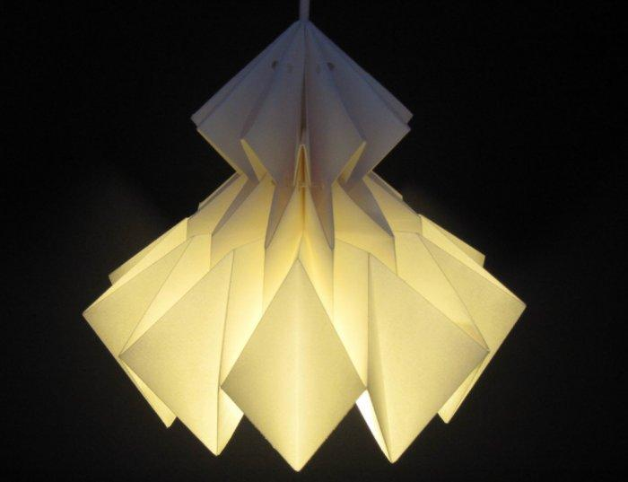 Paper Hanging Lamp1 - 9 Lovely and Creative Pendant Lighting Designs