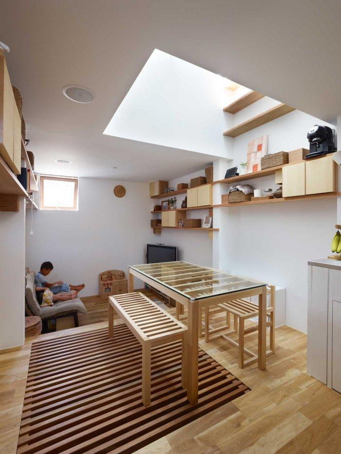 Small Living Room - Japanese Minimalist Inside a Tiny House in Nada, Japan