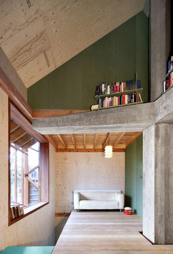 Living Room - Small Eco House Architectural Design in Gent, Belgium