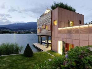 The boathouse – modern luxury boathouse design by the lake.