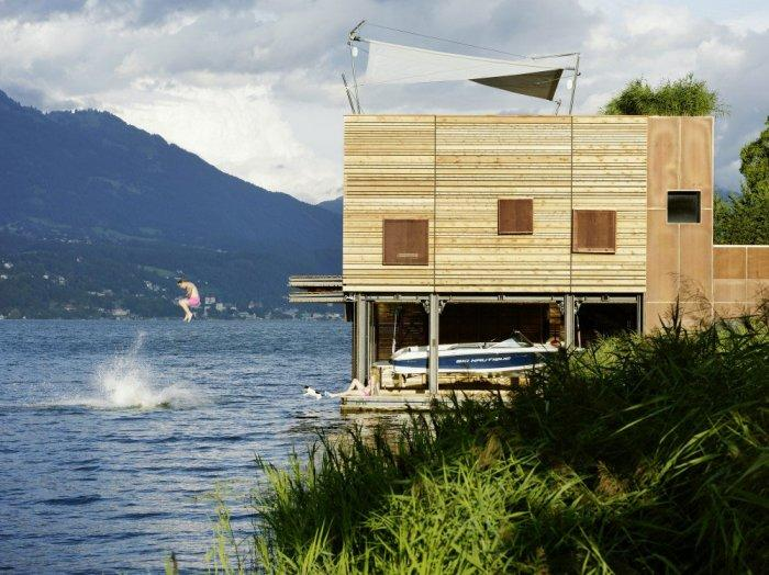 The boathouse 13 – modern luxury boathouse design by the lake.