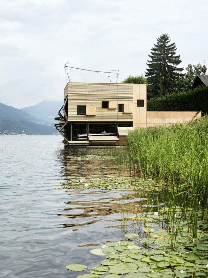 The boathouse 2 – modern luxury boathouse design by the lake.