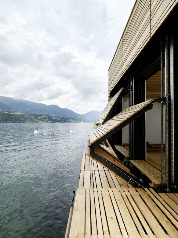 The boathouse interior 8 – modern luxury boathouse design by the lake.