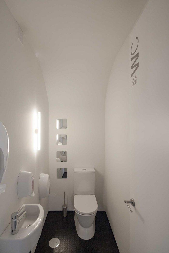 Toilet Room - Stylish and Modern Dental Studio Design in Portugal