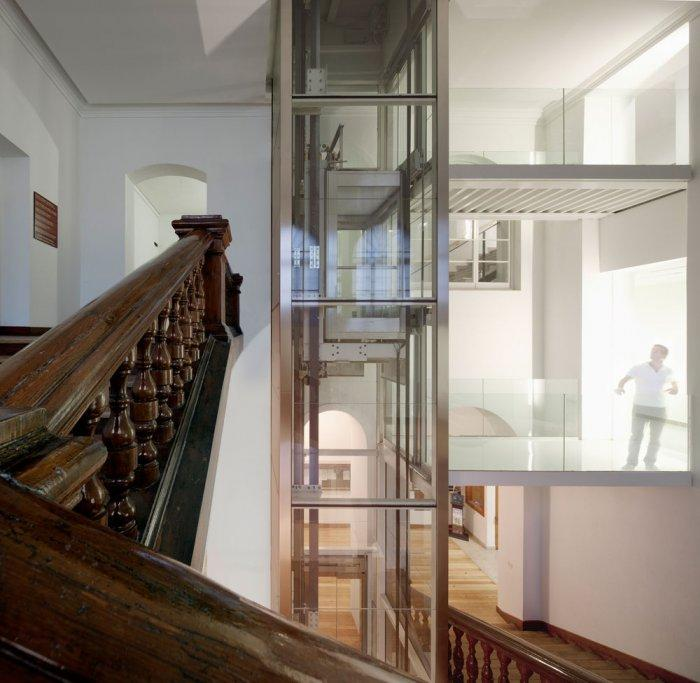 Wooden Staircase - University of Duesto with Renewed Interior Design