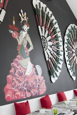 Victoria Beer - Creative Flamenco Dancer Decoration in Malaga Restaurant description –