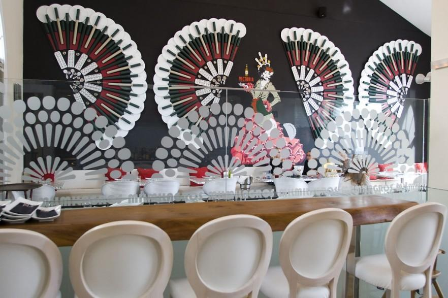 Victoria Beer - Creative Flamenco Dancer Decoration in Malaga Restaurant
