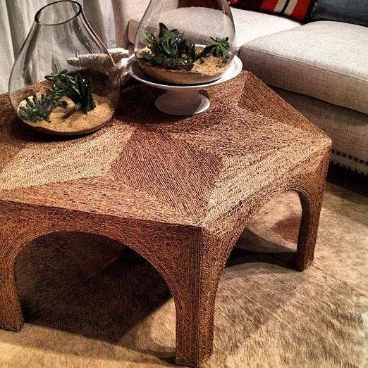 Wicker Tea Table - 7 Fantastic Home Accessories in Moroccan Style