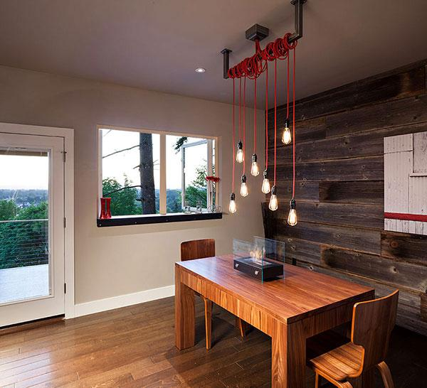 Wooden Dining Table - Breathtaking Eclectic Modern House in Oregon, USA