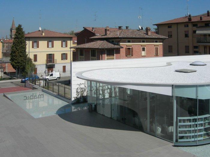 Window Facade - Maranello Library Architecture and Design in Italy