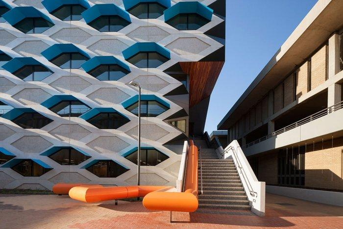 Bee Cell Facade - Modern Educational Building Design - The La Trobe LIMS