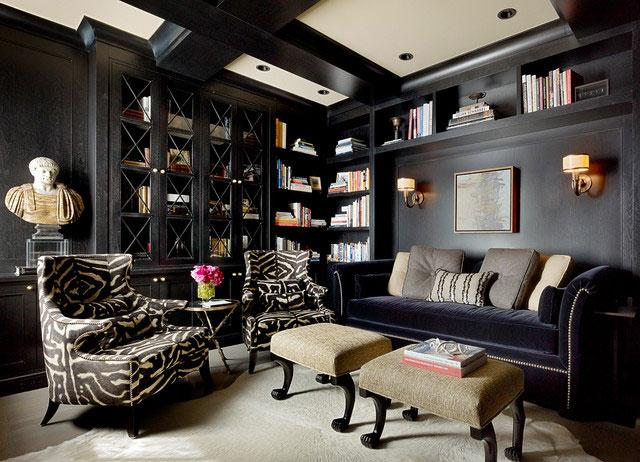 Black Living Room Interior - 8 Top Home Decoration Color Trends for Stylish Interior