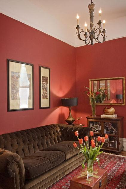 Brown and Red Living Room - Latest Interior Design Trends