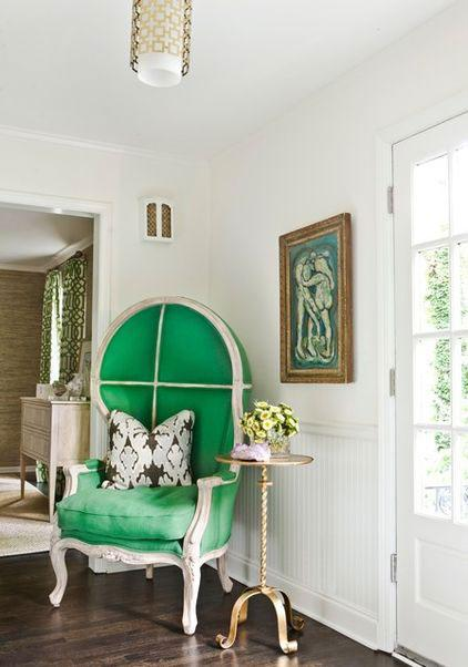 Classic Green Armchair - Using the Right Chair Design when Decorating Rooms
