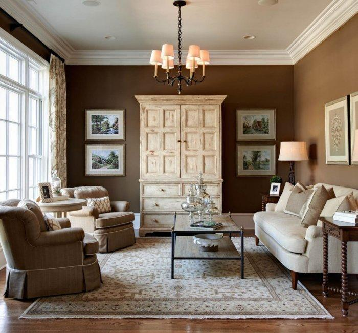 Classic Living Room - Best USA Decor Examples of Home Wall Painting Ideas