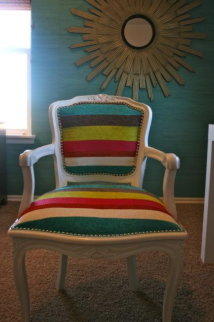 Colorful Striped Armchair - How a Colorful Chair can Decorate your Living Room