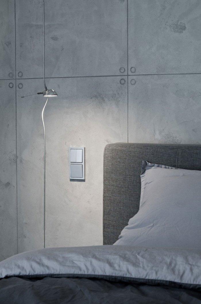 Concrete Raw Bedroom Intrerior Design - Global Apartment Interior Design Trend