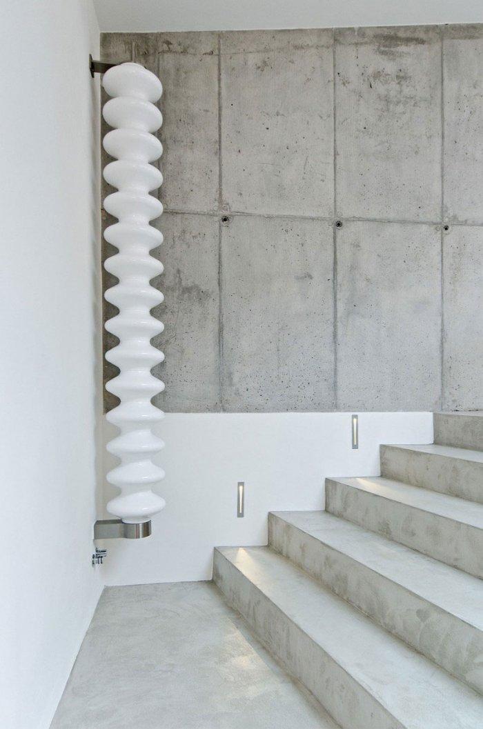 Concrete Stairs  -  Global Apartment Interior Design Trend