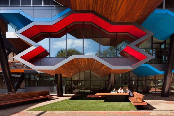 Contemporary Facade - Modern Educational Building Design - The La Trobe LIMS
