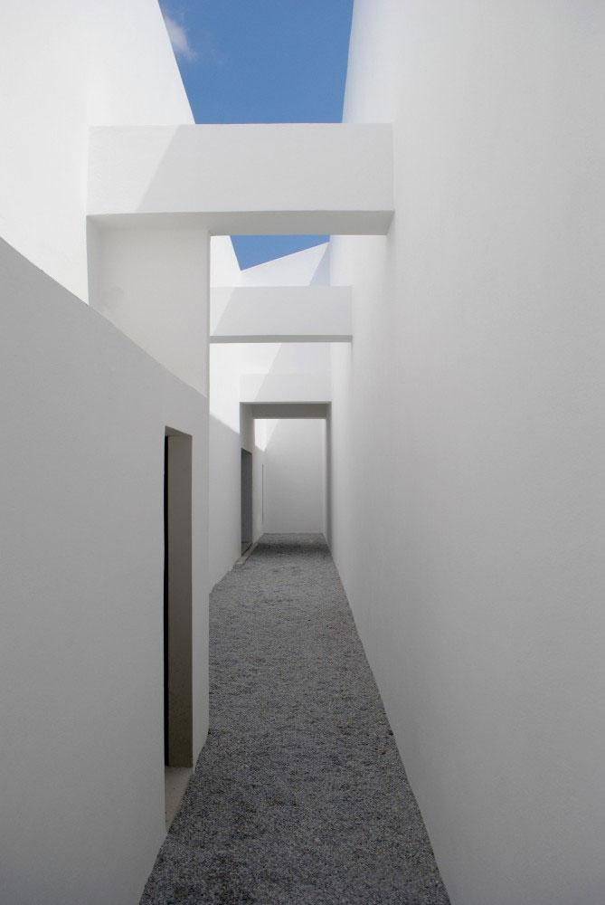 Contemporary Hallway Interior - Unbelievable Mediterranean Summer Villa in Naxos, Greece