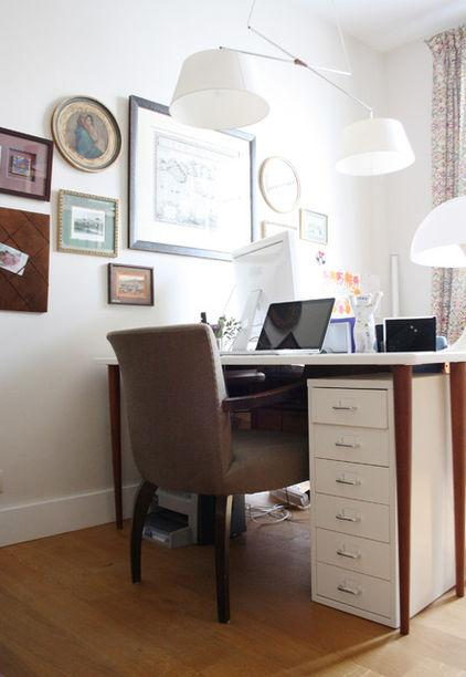 Contemporary Home Working Desk - Eclectic Interior Design of a Modern Home in Brussels