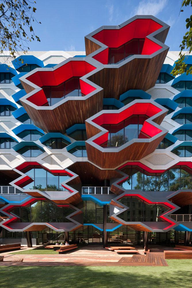 Contemporary University Facade - Modern Educational Building Design - The La Trobe LIMS
