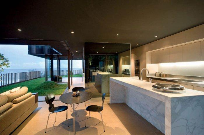 Contemporary Kitchen - Impressive Luxury Designer Beach House Architecture