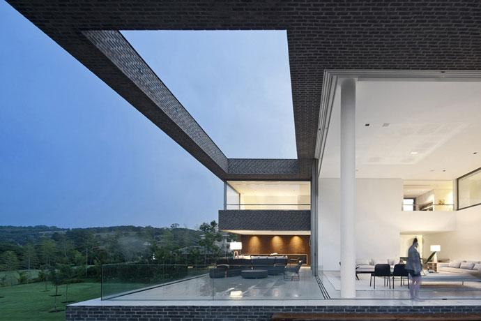 Contemporary Open Living Room - Luxury Countryside Contemporary House near Sao Paulo