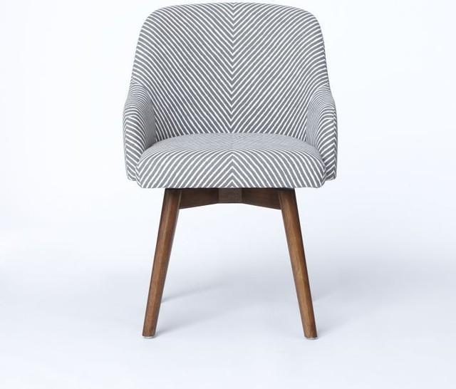 Contemporary Striped Soft Chair - What Furniture to Use to Transform Your Home Office?