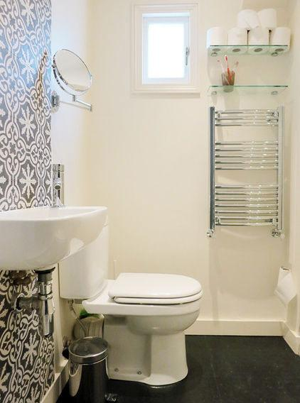 Contemporary Toilet - Neat Victorian London Home with Contemporary Interior