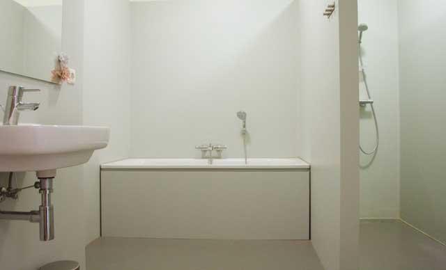 Contemporary White Bathroom - Loft Apartment Interior Design -Contemporary Lifestyle