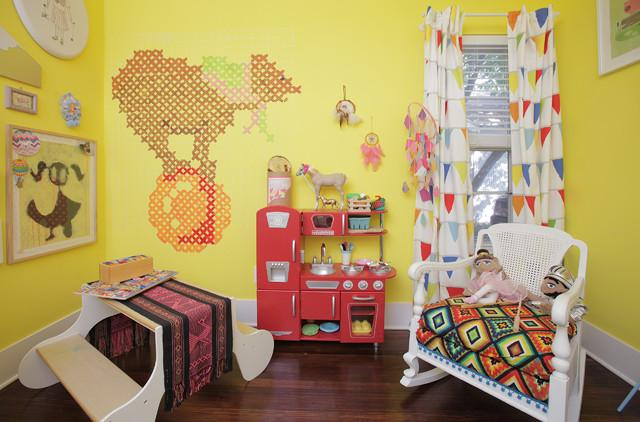 Creative Children Room Interior - How a Colorful Chair can Decorate your Living Room