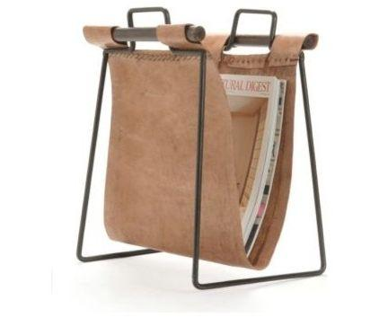 Creative Leather Newspaper and Magazine Holder - What Furniture to Use to Transform Your Home Office?
