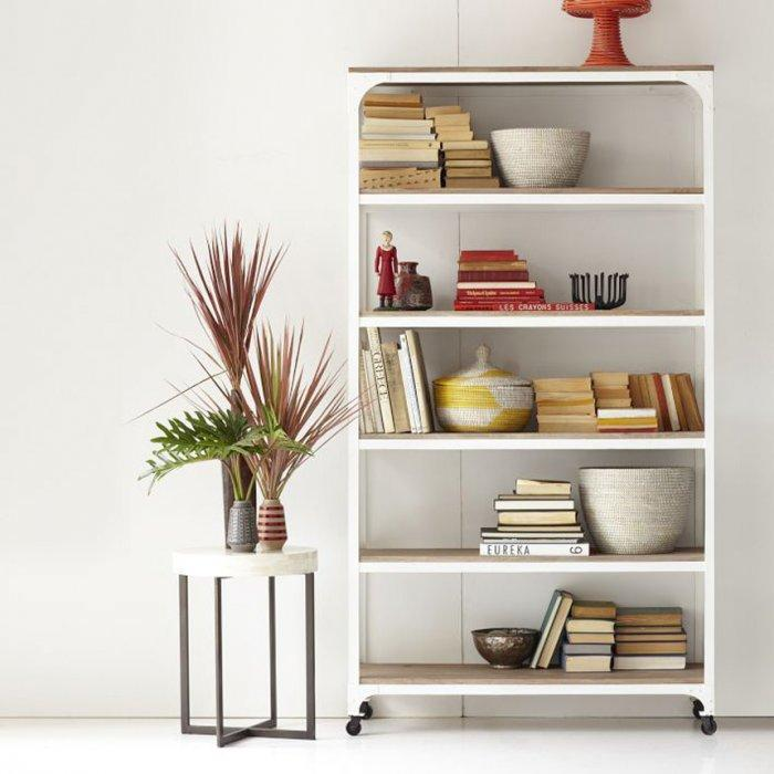 Creative White Wooden Bookshelf - What Furniture to Use to Transform Your Home Office?