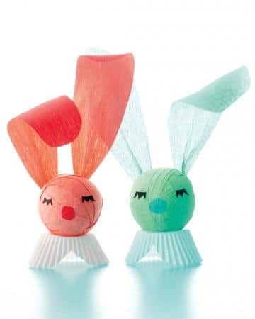 Crepe Paper Surprise Bunny - Easter Decorating Ideas in Pictures & How-To Examples