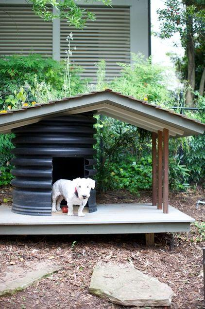 the contemporary dog hut as part of the garden decor founterior. Black Bedroom Furniture Sets. Home Design Ideas